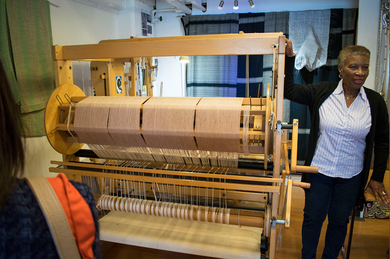 Hand made fabrics from Archipelago Textiles at OXO Tower Wharf