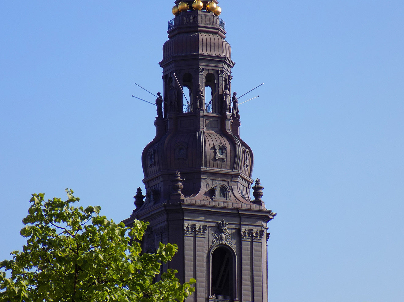 black tower in Copenhagen
