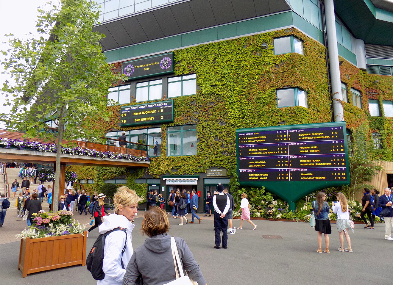 Wimbledon complex including Centre court building