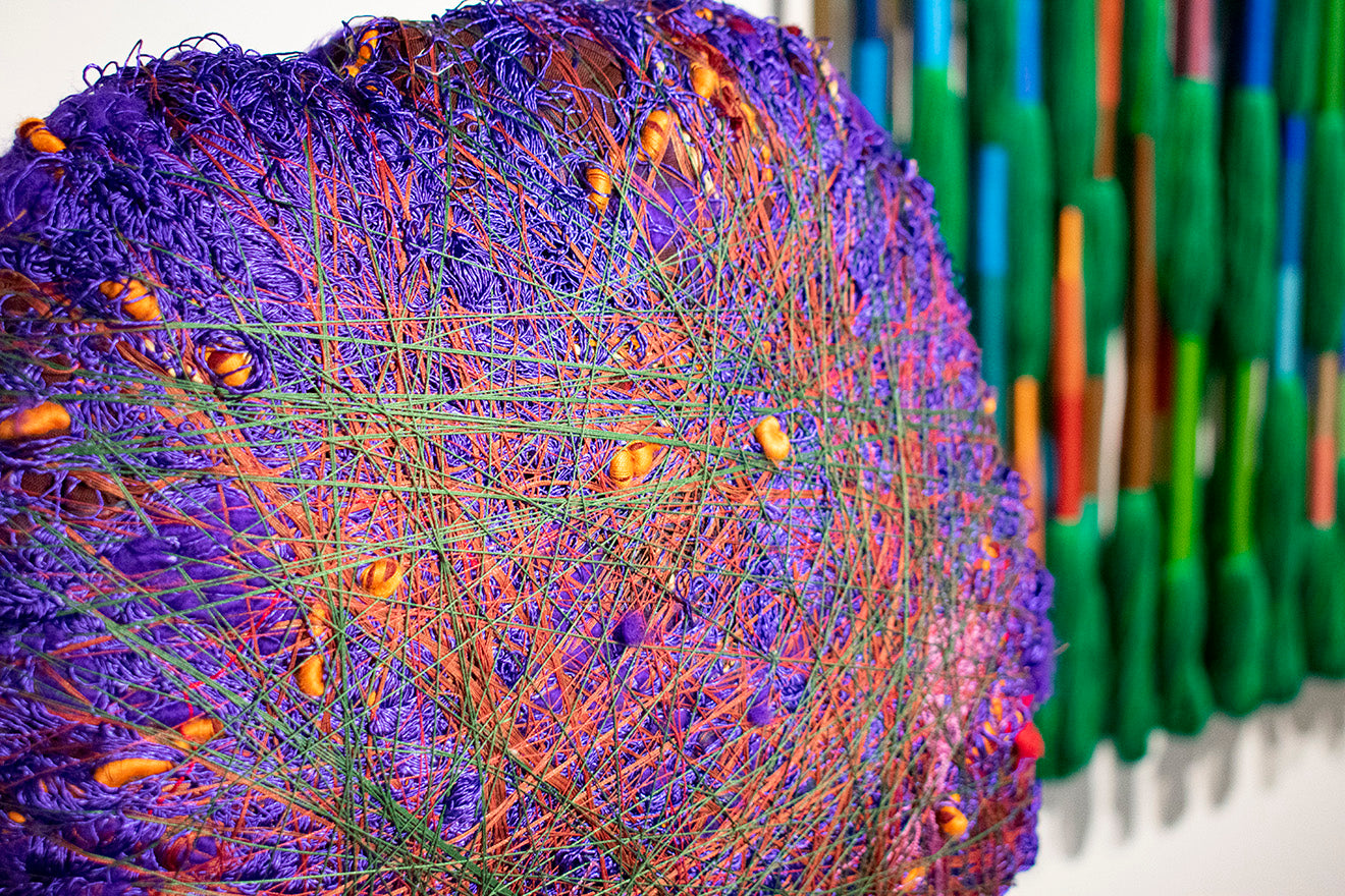 Sheila Hicks at the Alison Jacques Gallery Art Basel Miami