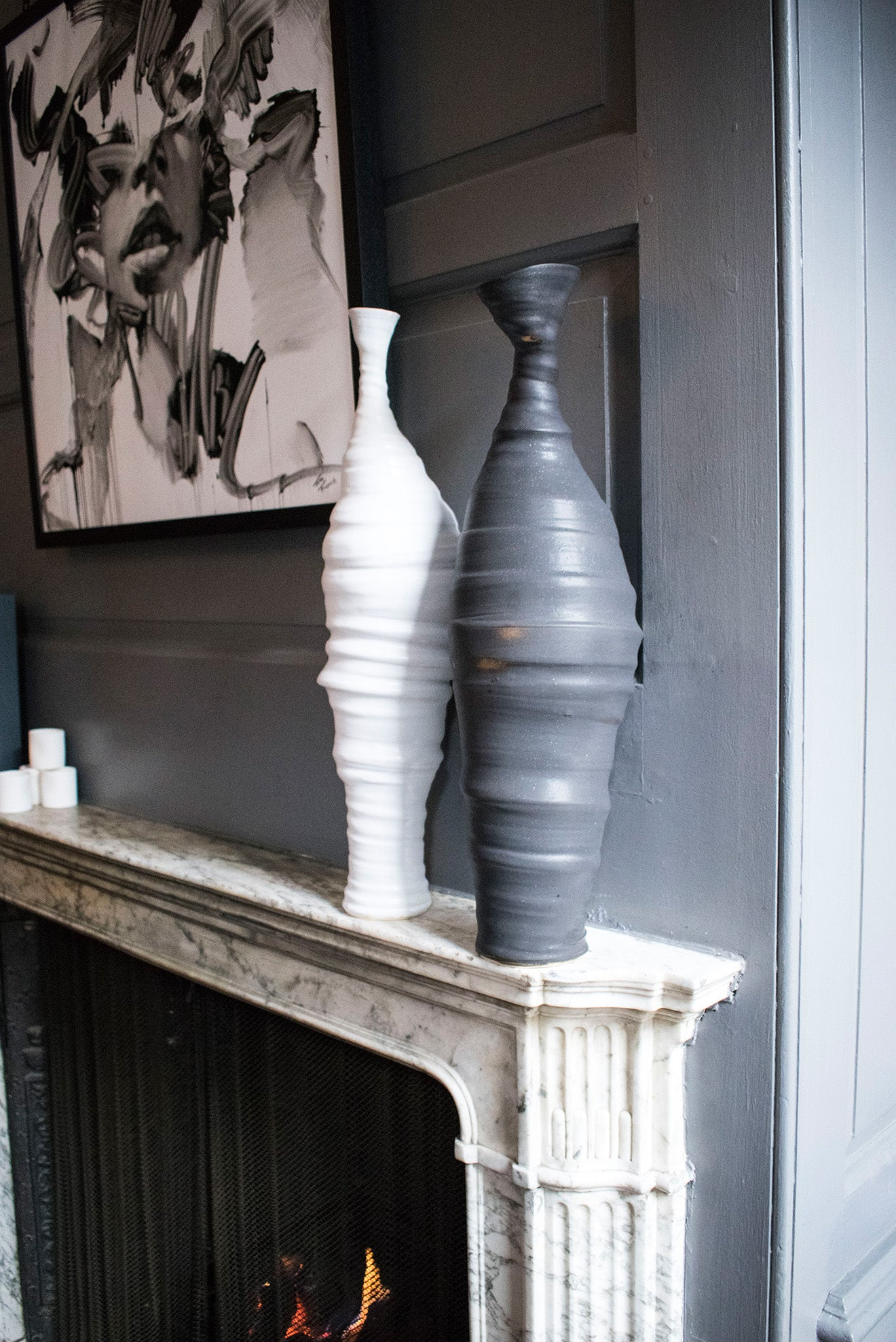 Author Interiors Tall Freeform Ceramic Sculpture by Penny Withers
