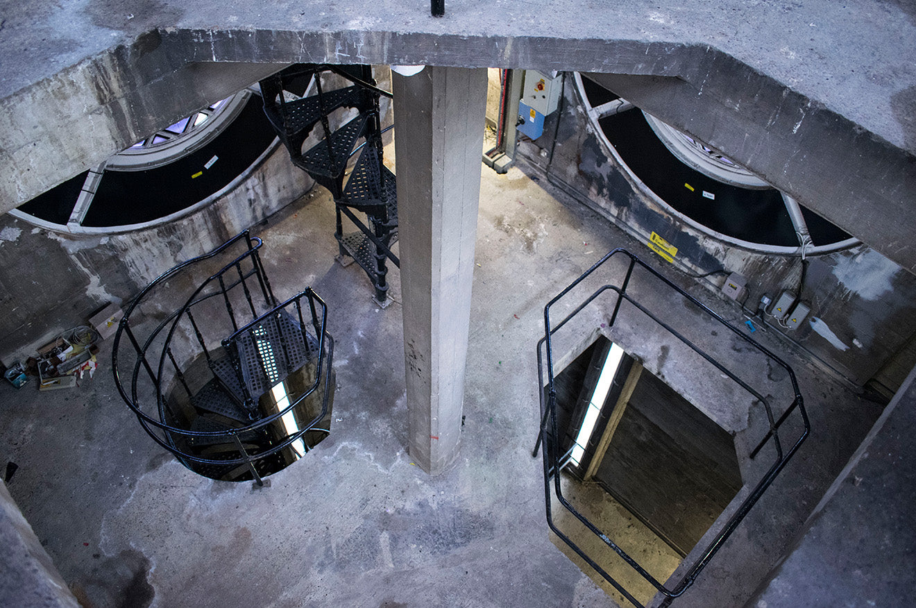 Inside the OXO tower London industrial interior