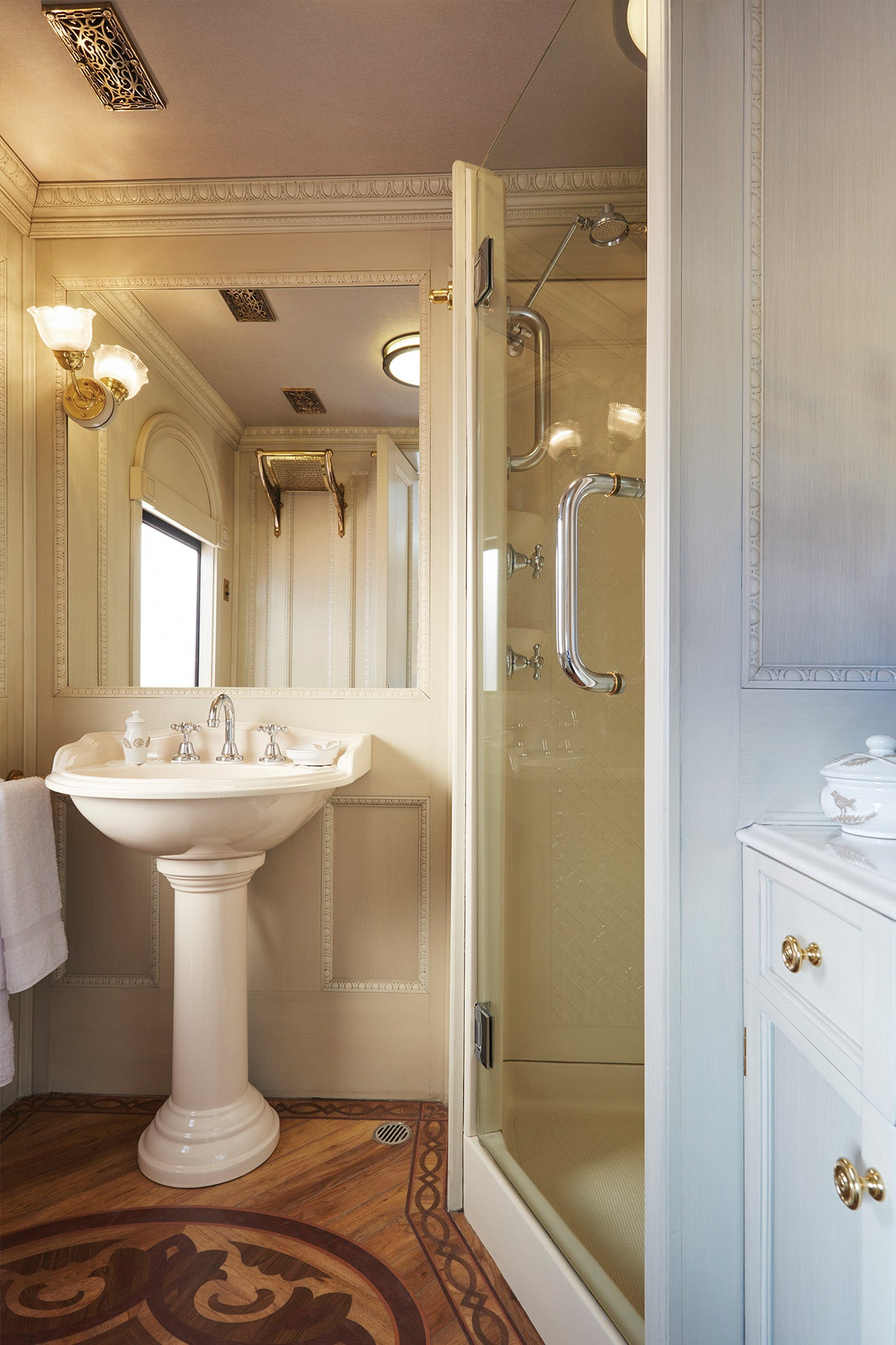 Bathroom in the Belmond Andean Explorer, South Africa's first luxury sleeper train