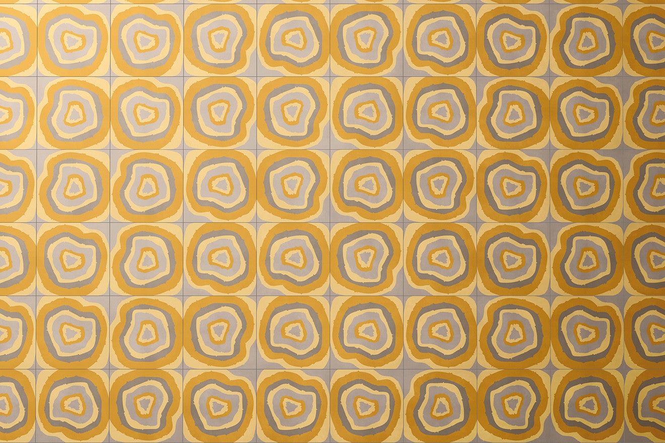 Campana brothers collaboration with Bisazza yellow concrete tiles