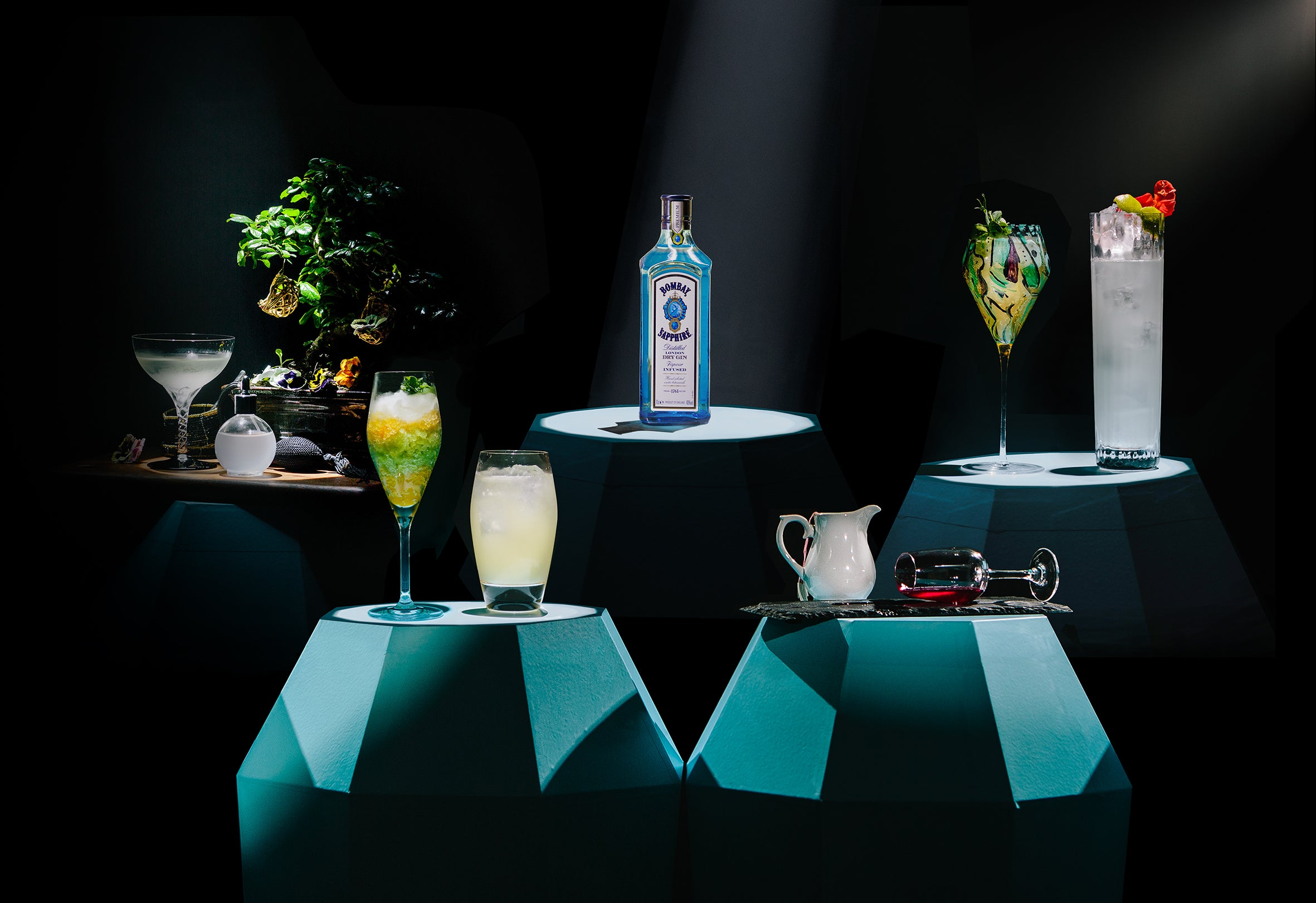 Bombay Sapphire cocktail designs