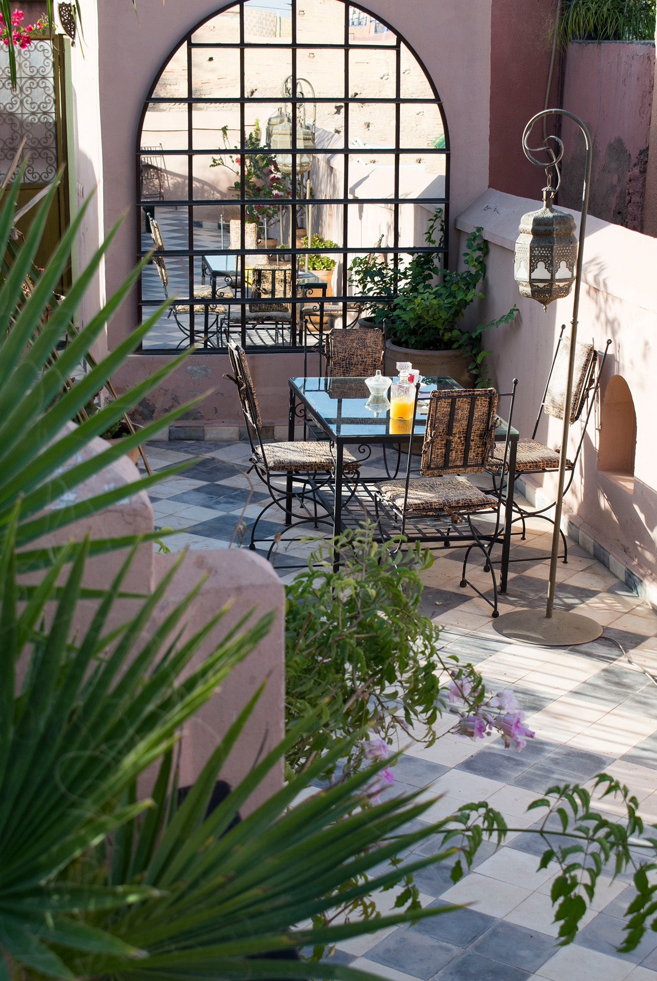 Breakfast on the rooftop of a Moroccan Riad