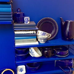 Bright Blue home accessories on display at Designjunction London Design Festival
