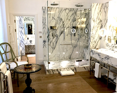 Brown's Hotel Luxury Marble bathroom and shower room