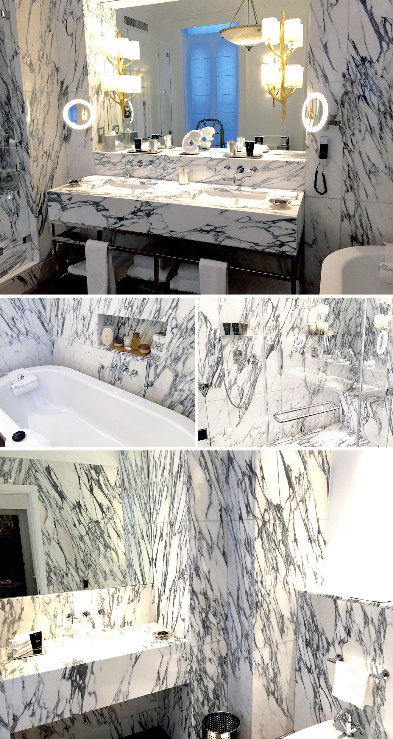 Brown's Hotel London Luxury marble Bathroom in the Kipling suite