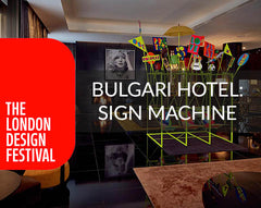 Bulgari Hotels Sign Machine art Installation