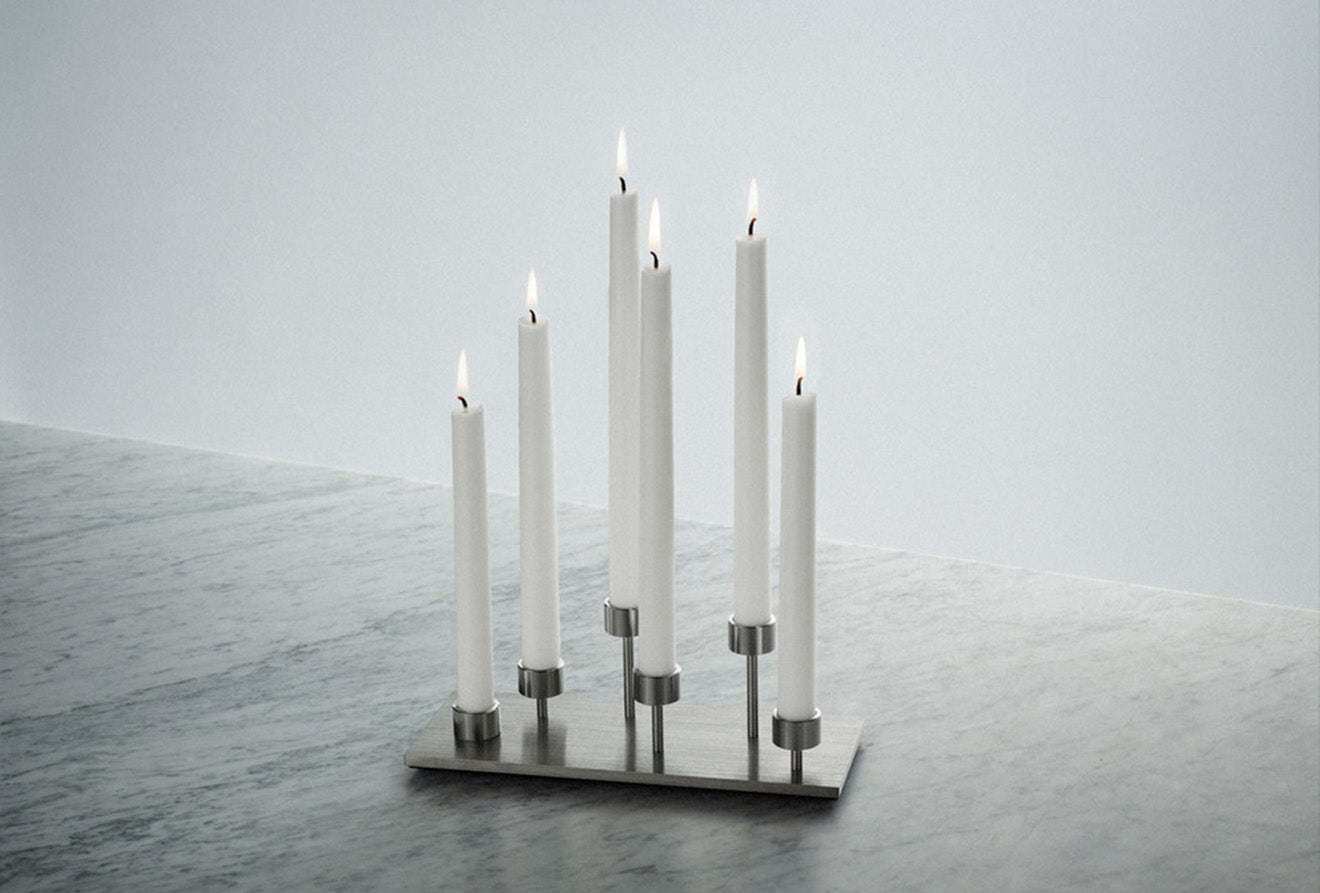 Machined candle holder with Buster + Punch