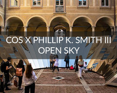 COS X Phillip K. Smith III Open Sky Salone el Mobile