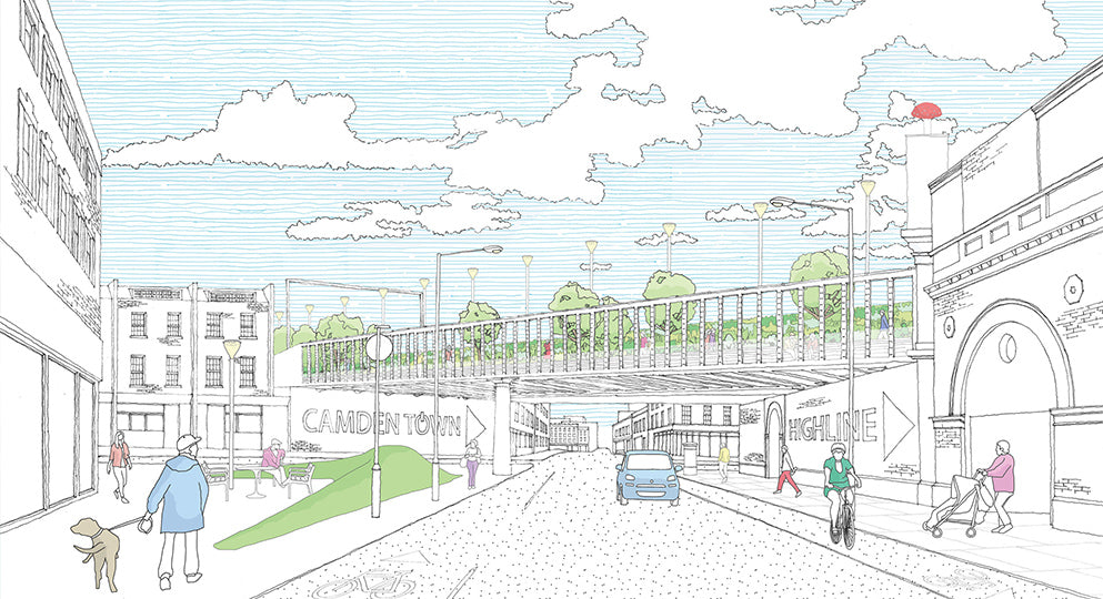 the team behind the Camden Highline will be running daily walking tours and showing off their new model of the route