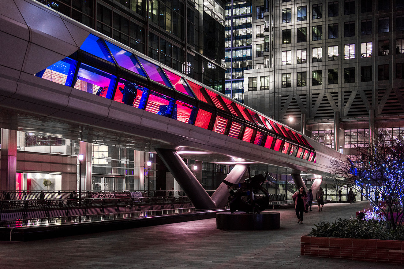 Canary Wharf Winter Lights 2019 Colour Moves