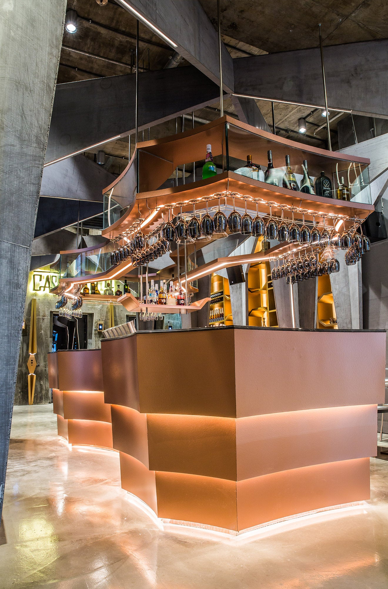 Striking luxury bar designs Castello 4 Hong Kong