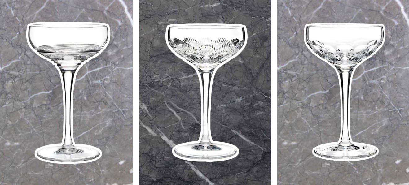 Waterford Champagne coupe collections