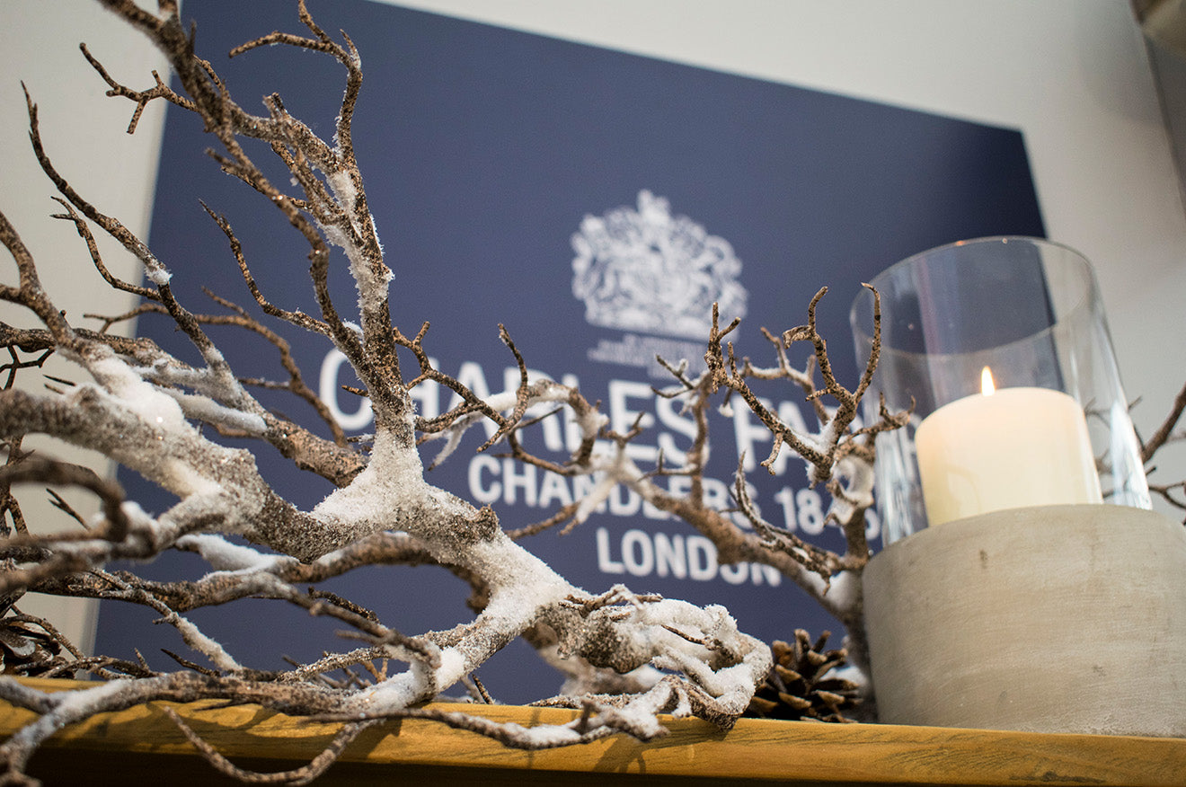 Charles Farris Candles at the Spirit of Christmas