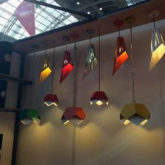 Charles lethally triangular lighting on display at 100% Design