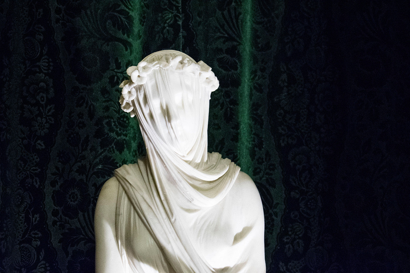 Veiled Vestal Virgin at Chatsworth House