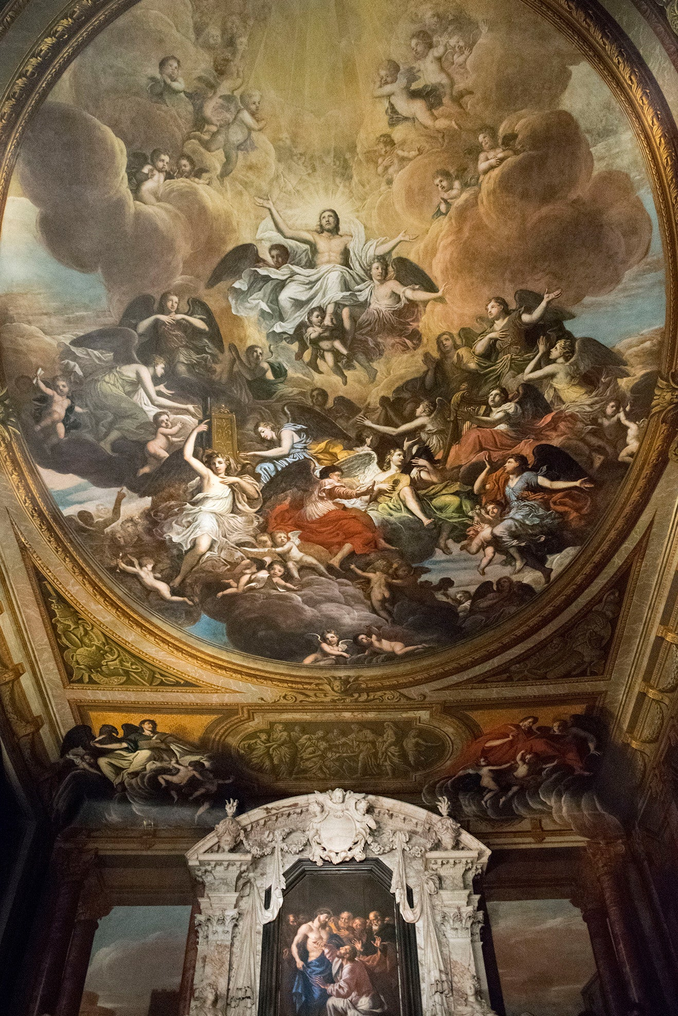 Chatsworth House Chapel with painted ceiling