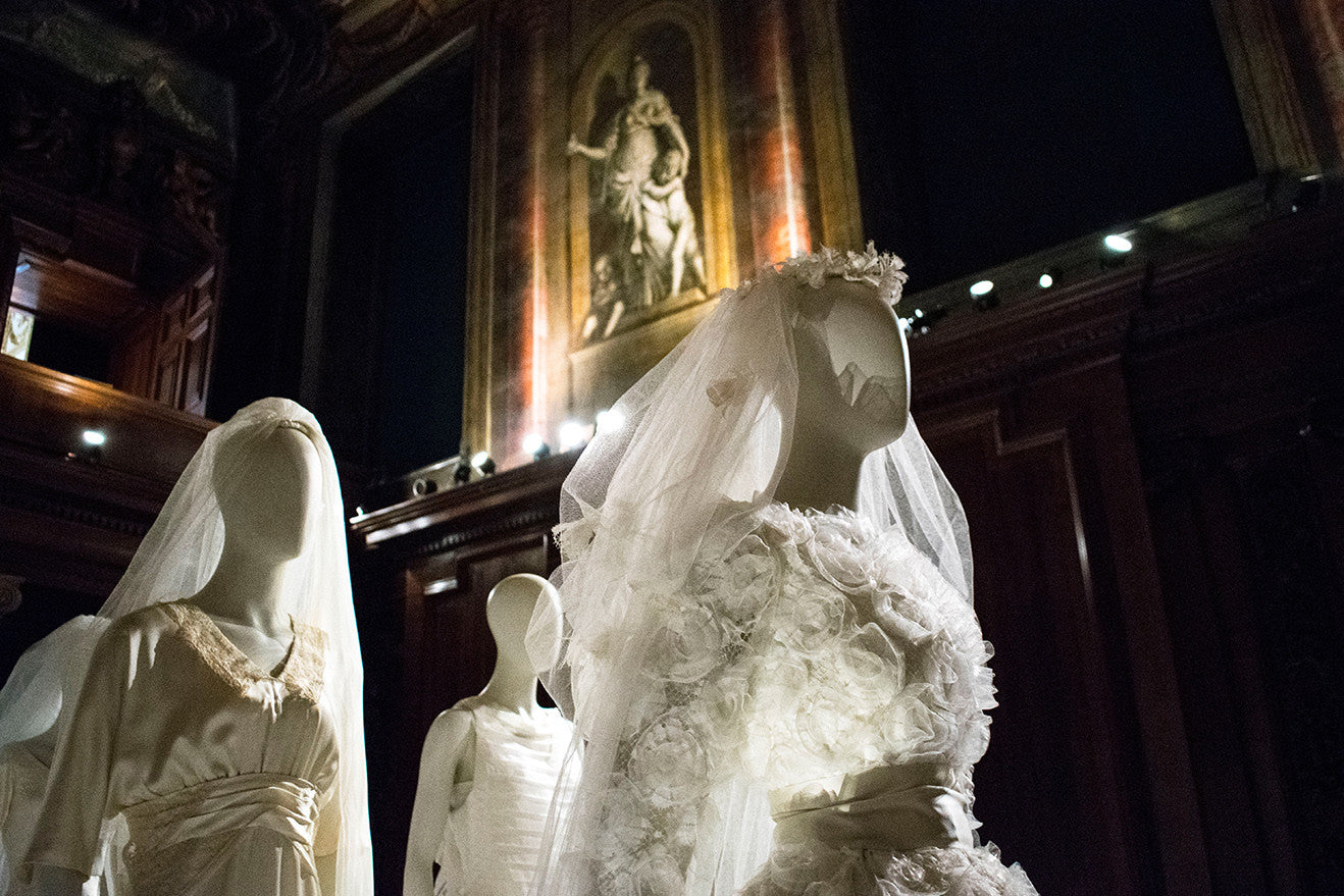 Chatsworth House Chapel wedding dress exhibition
