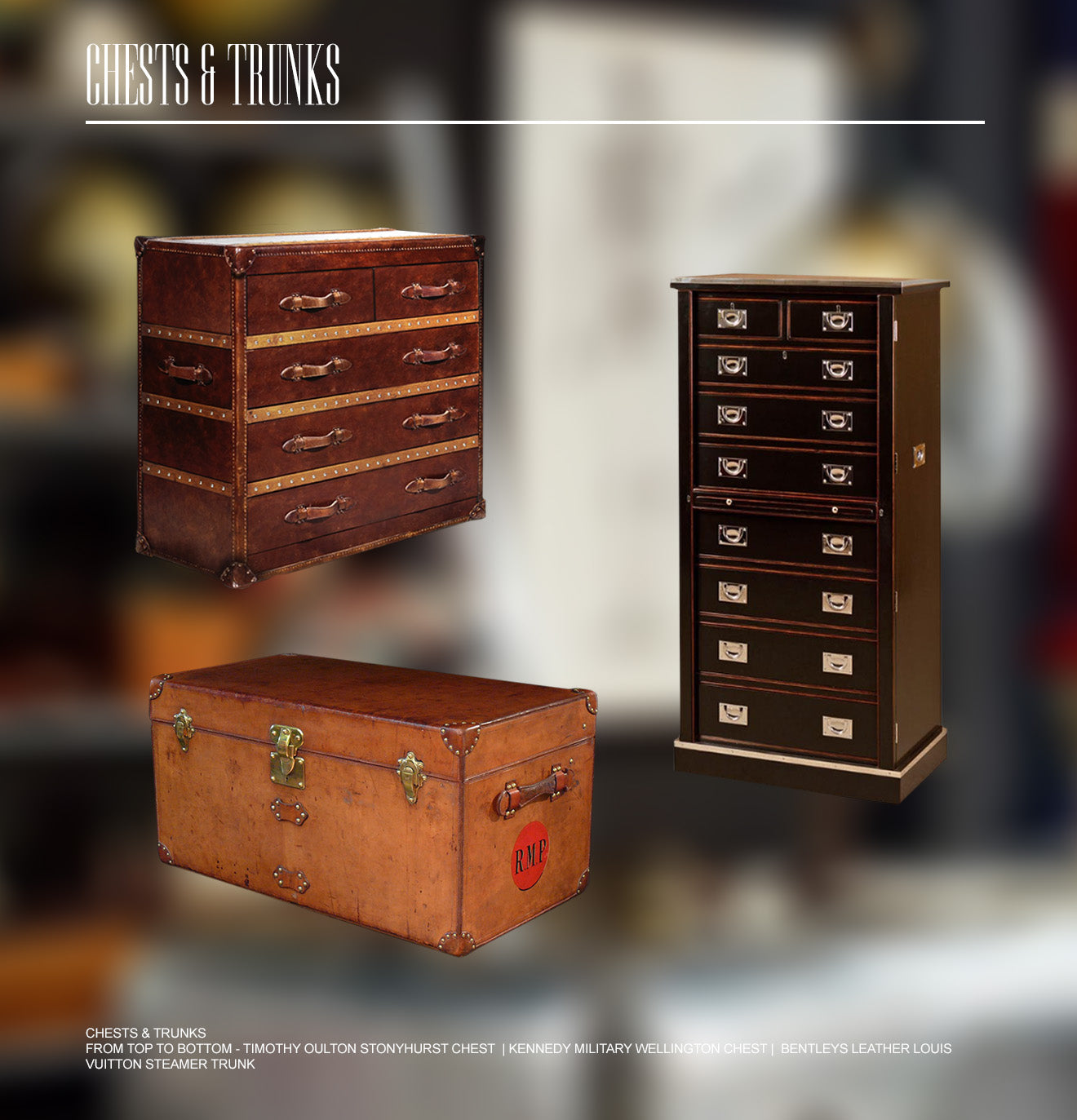 English eccentric style chests and trunks vintage chests and trunks