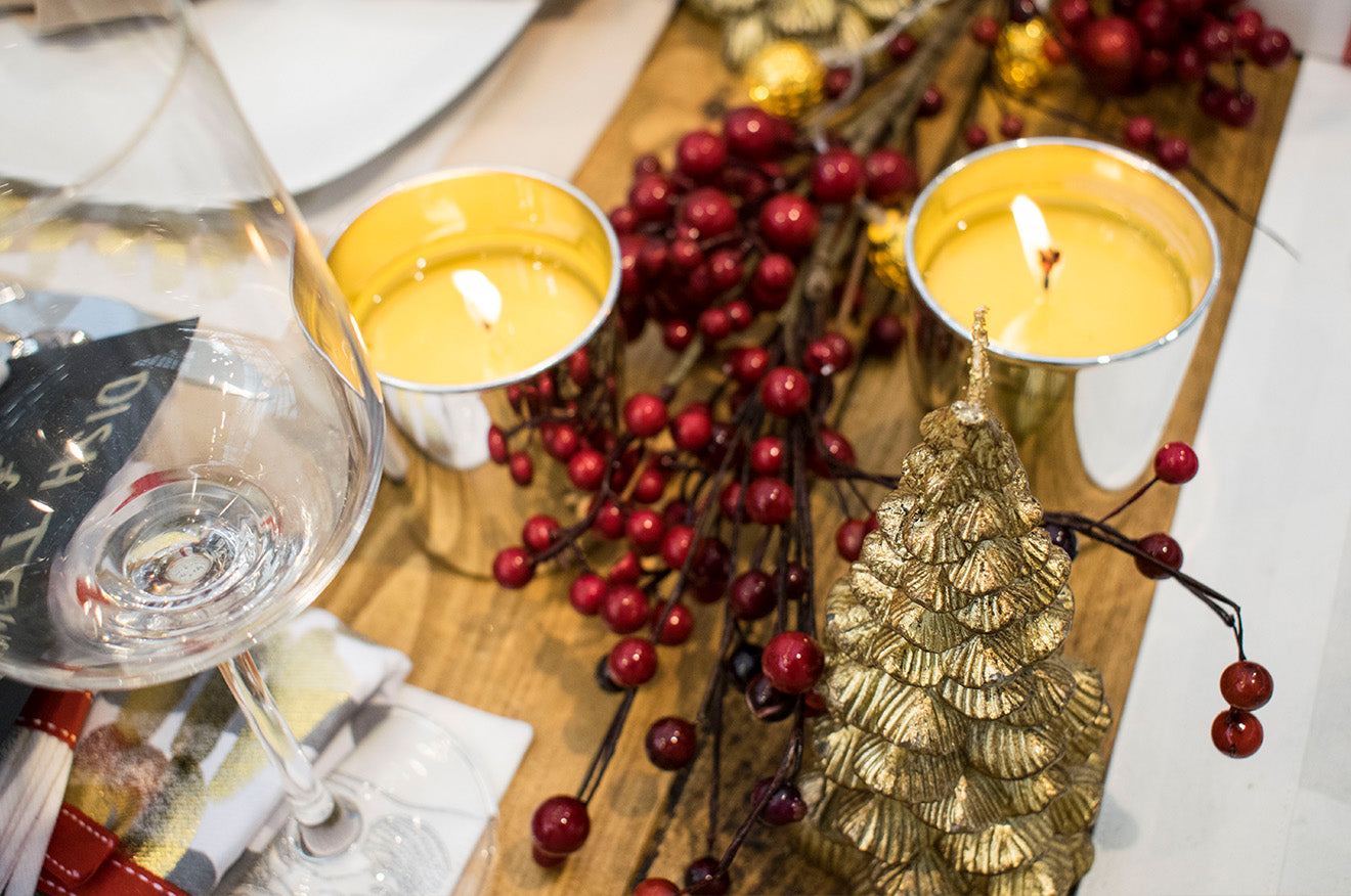 Christmas candles and table decorations by Claribel London