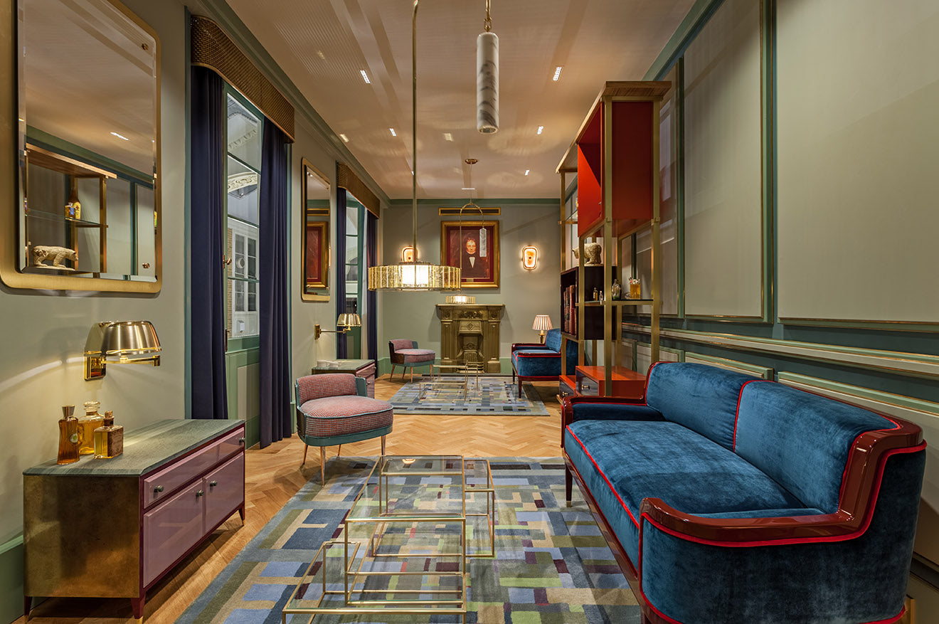Atkinsons Burlington Arcade Lounge and consultant space designed by Christopher Jenner Interior Design