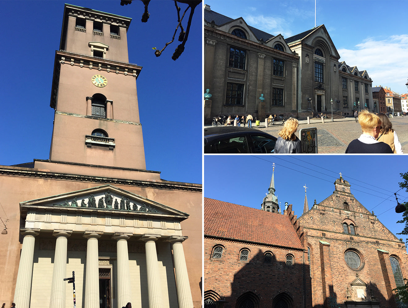 Traditional architecture in Copenhagen church and university buildings