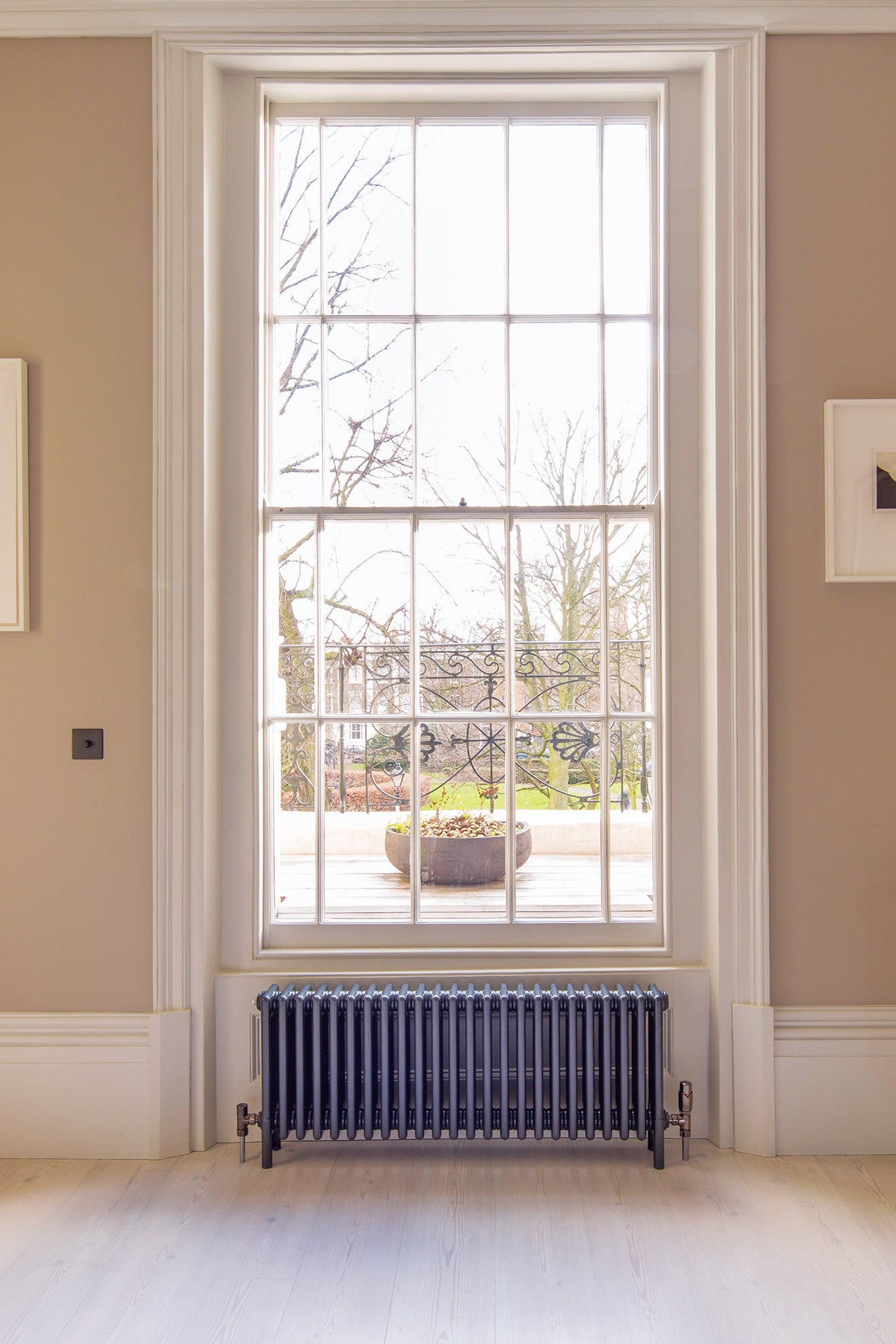 Bisque radiators make the radiator a feature to the home for Household radiator design