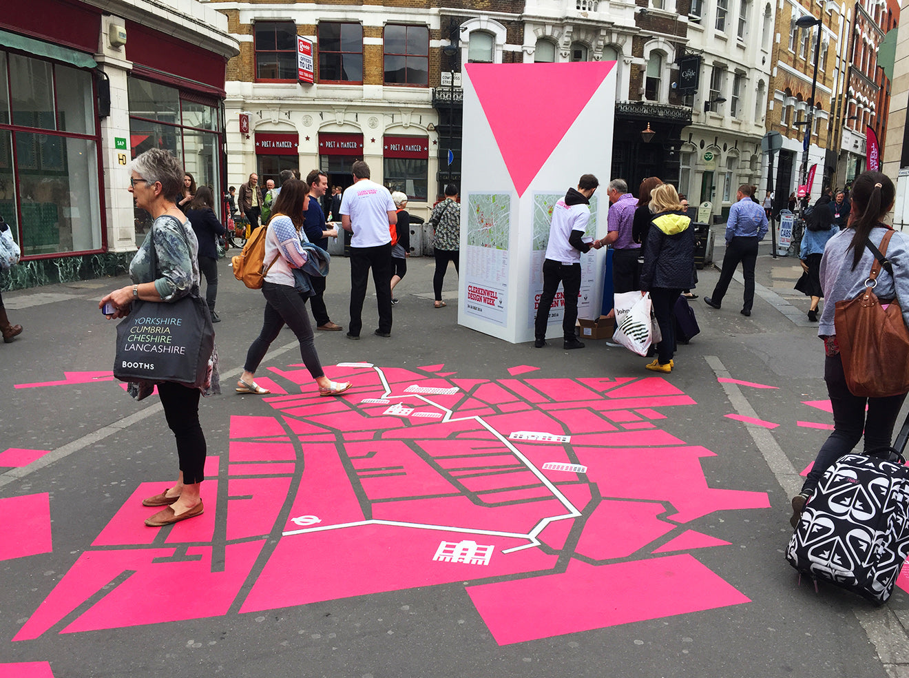 Clerkenwell Design Week giant map on street