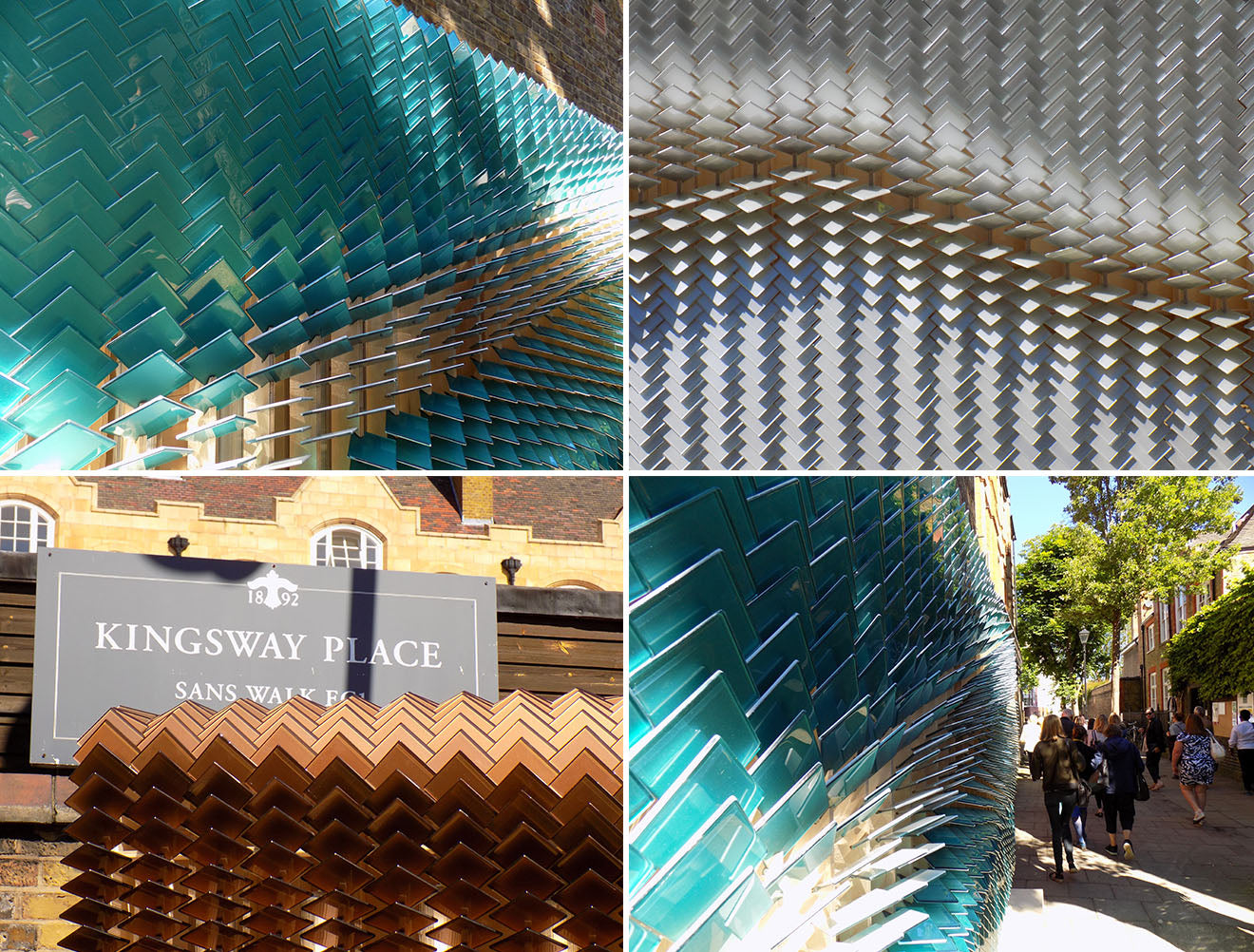 Giles Miller tile abstract billboard signs at Clerkenwell Design Week