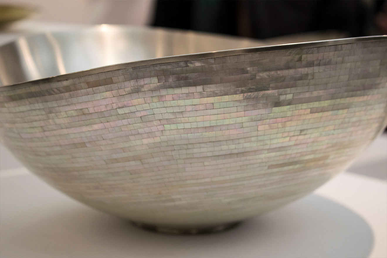 Mother of pearl bowl Collect 2017 Crafts Council