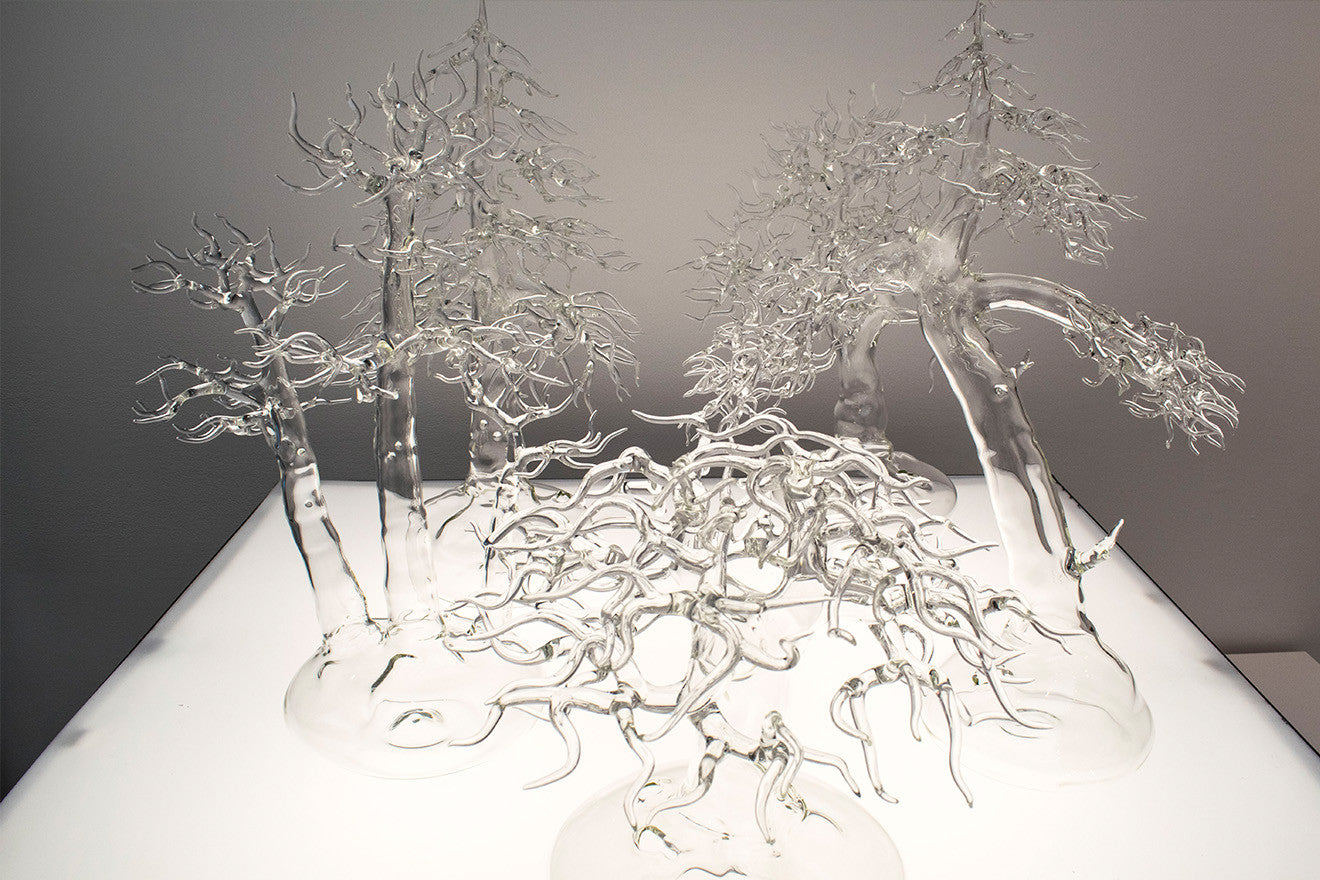 Glass blown decorative trees Collect 2017