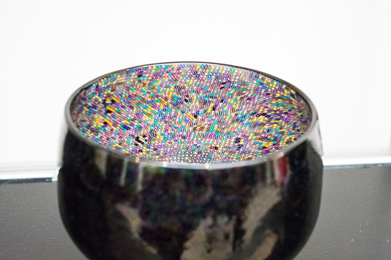 Collect 2018 exhibition colourful pixelated bowl