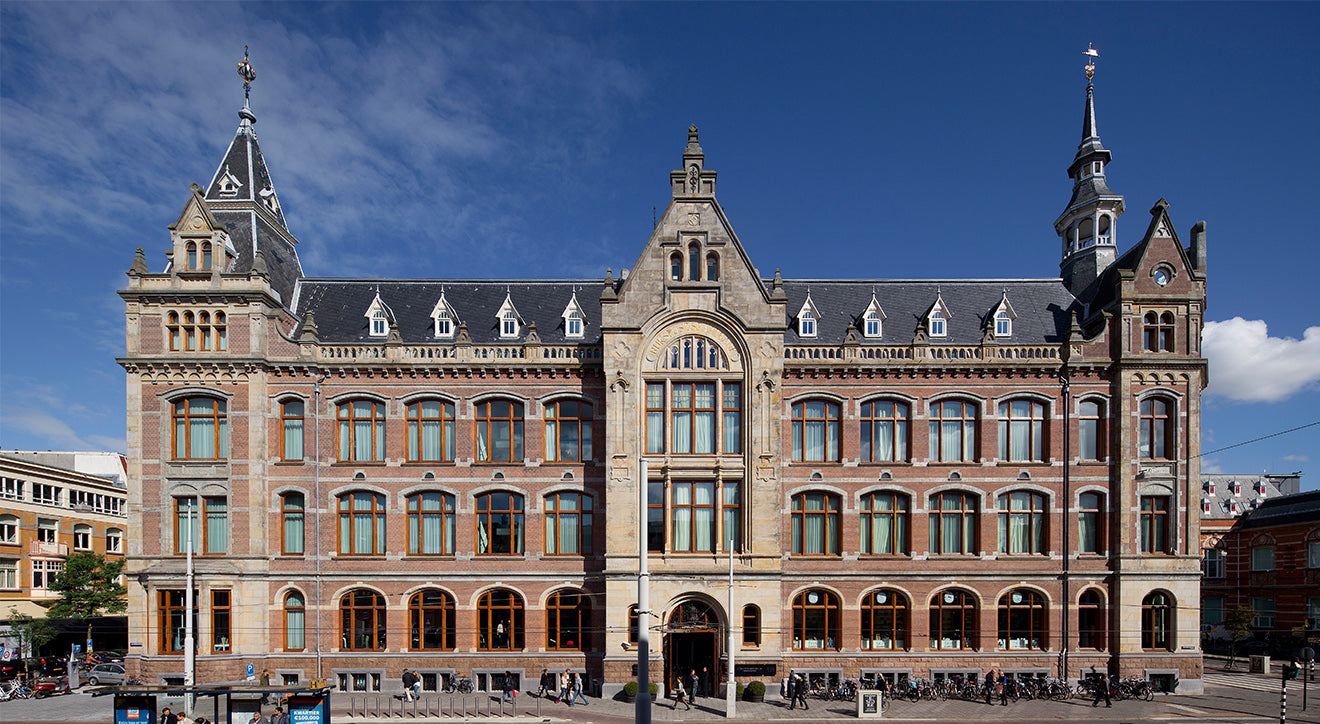 Exterior photo of the Conservatorium in Amsterdam luxury contemporary hotel