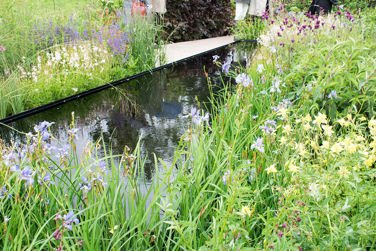 Chatsworth Flower Show Wedgwood garden pond