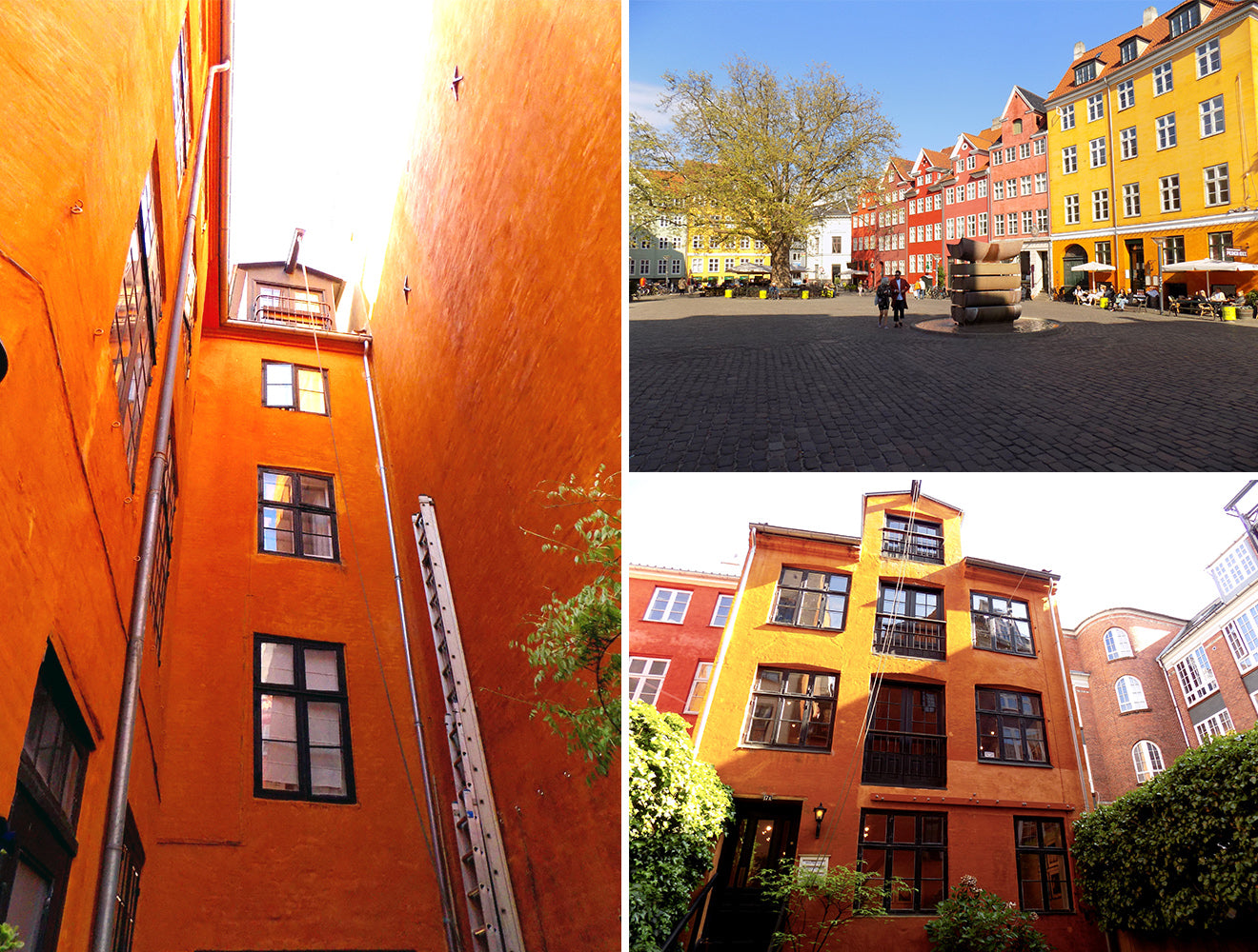 Bright colours of architecture and buildings in Copenhagen