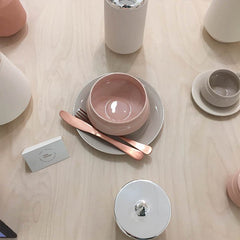 Beautiful Pastel and copper home accessories