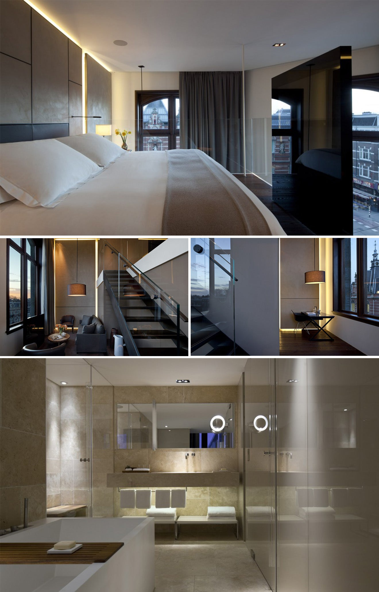 contemporary luxury hotel suite. The Corner Suite at the Conservatorium Amsterdam
