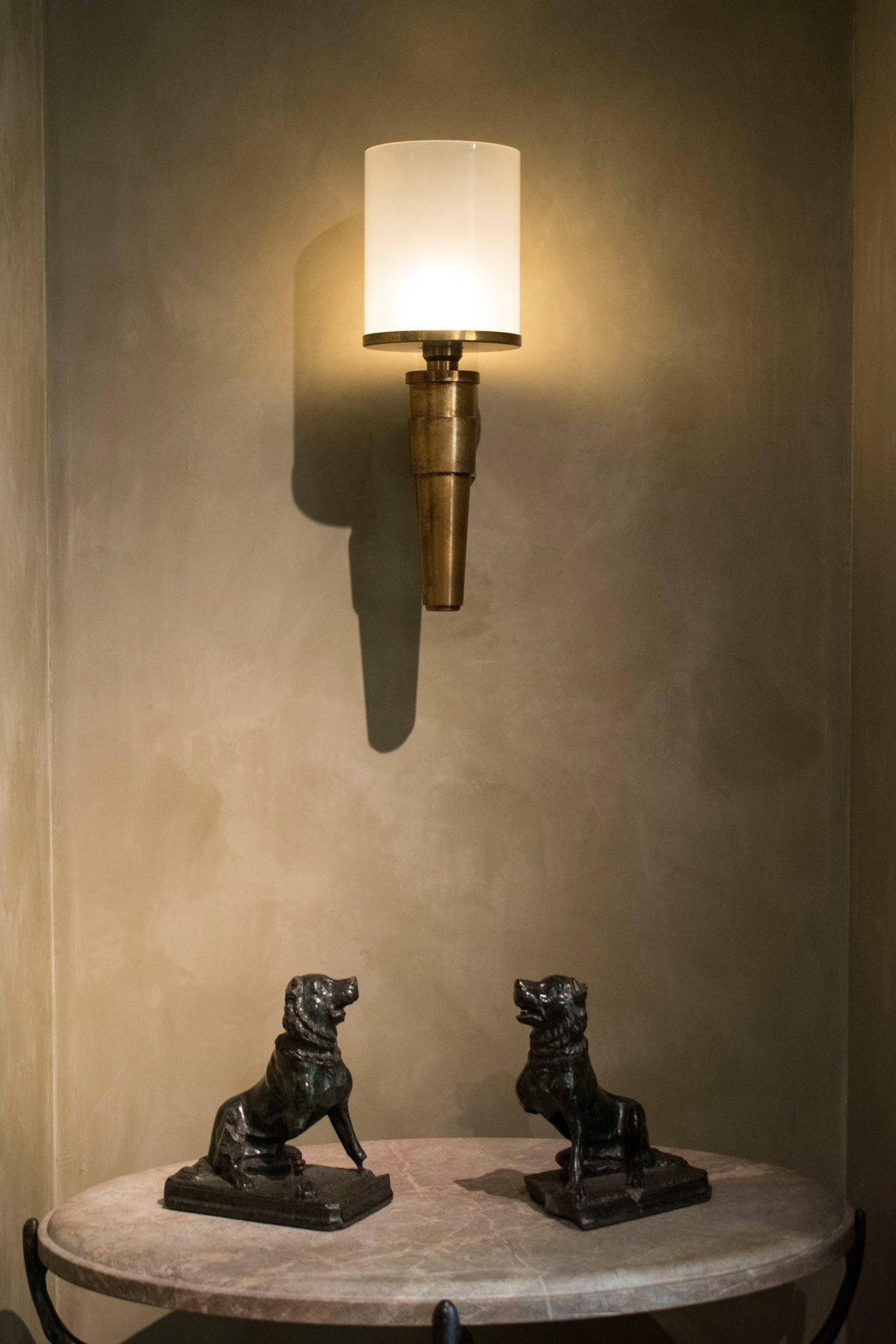 Cox London Showroom sculptures and wall light