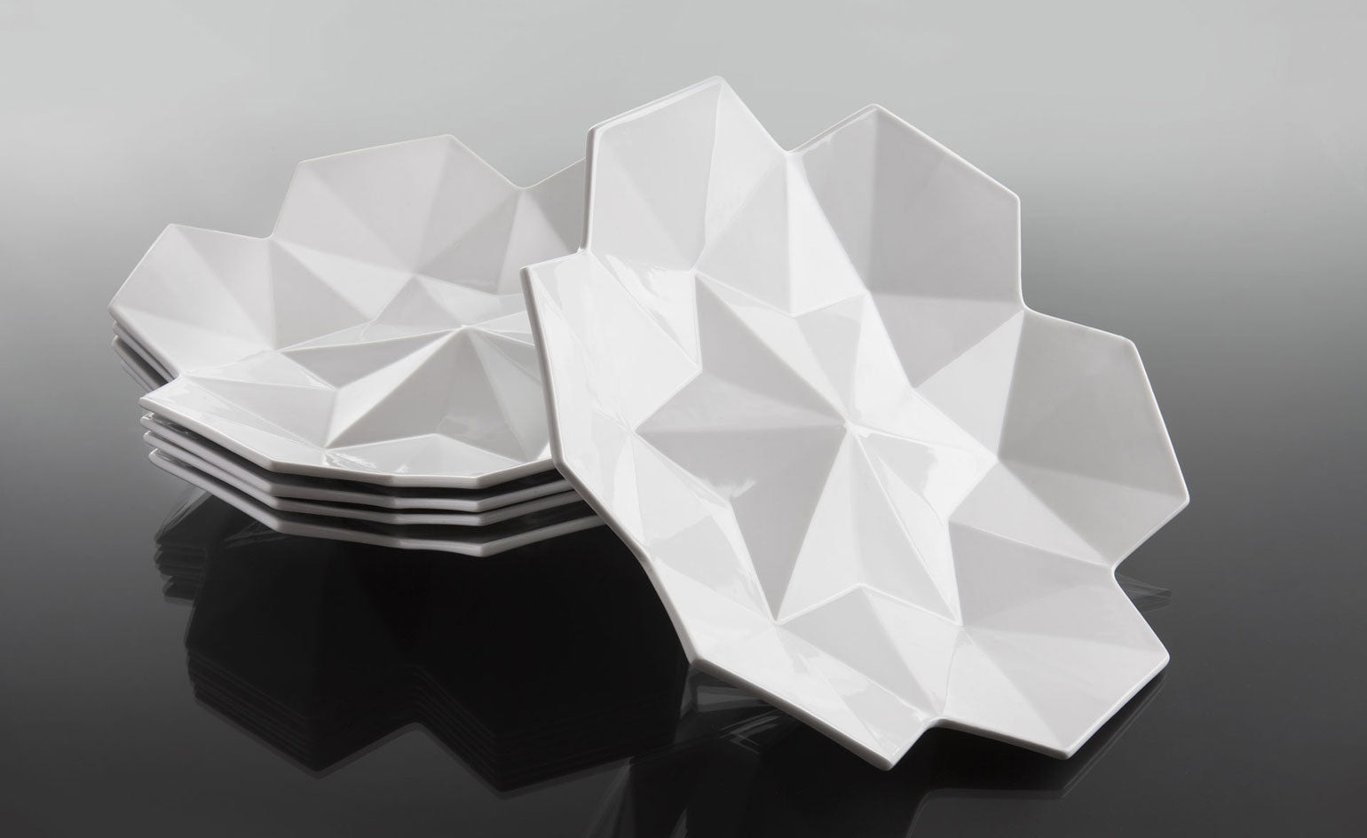 Cubist dinnerware designs from Lauriger