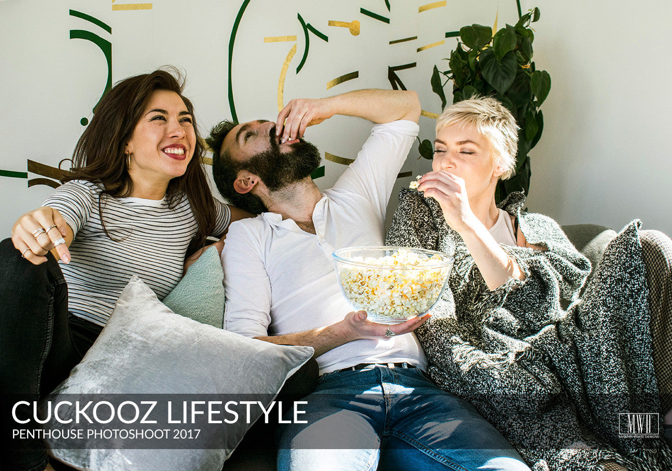 Cuckooz long stay serviced apartments London eating popcorn