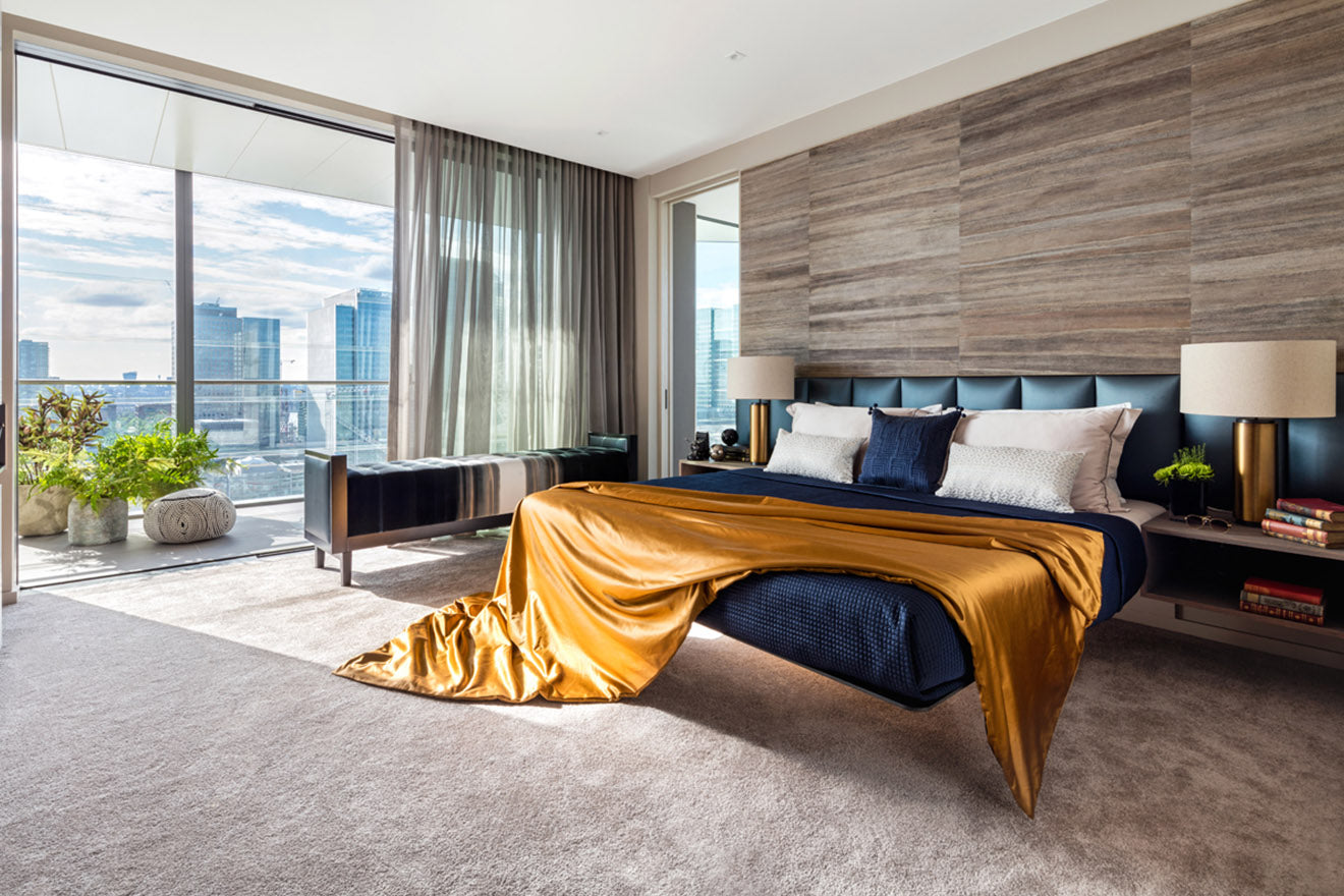 Daniel Hopwood Studio Hopwood Interior Design Dollar Bay Penthouse Master Bedroom
