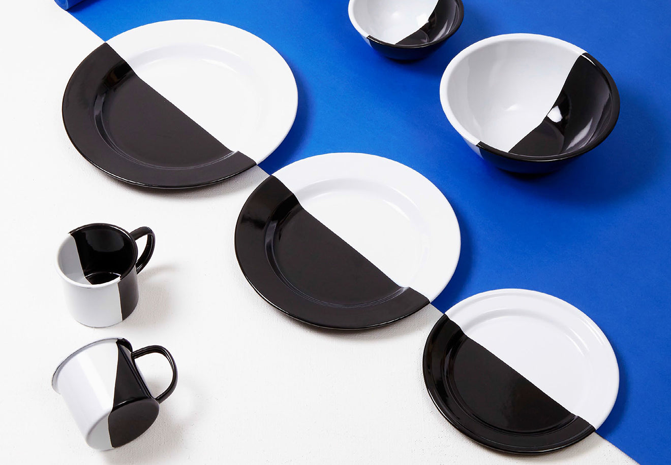 Darkroom exclusive hand dipped enamel plates exclusive for Selfridges