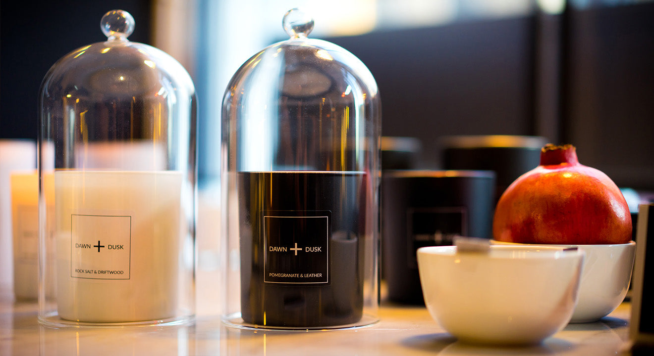Luxurious modern candle scents from Dawn + Dusk