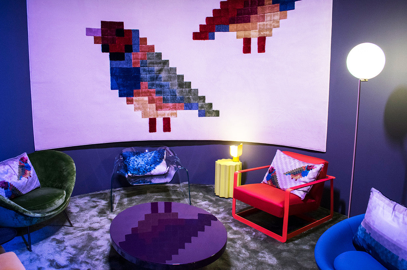 Room setting with furniture and lighting at DeLightFuL Salone del Mobile