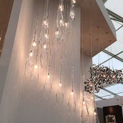 luxury pendant lamp display at Decorex