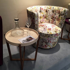 LINLEY floral armchair and side table