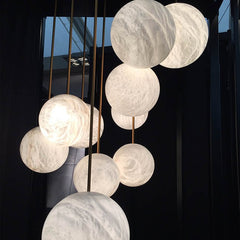 Marble finish lighting pendant